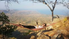 A beer, a hammock and an incredible view! This'll do nicely.