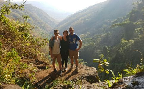 Hiking around the mountains and waterfalls near Livingstonia...