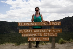 Just hiked up to the crater of Longonot...about to start hiking around the rim