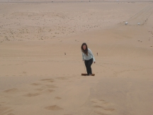 It's a hard slog walking up these dunes ya know!