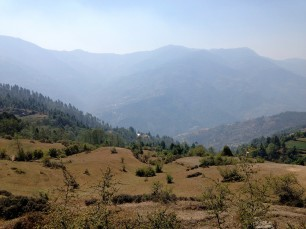 The lower Foothills of the Himalayas