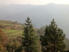 Overlooking the hills