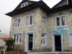 A place to stay the night in Bupsa. This would be the last stop before joining the main trail hiked in from Lukla.
