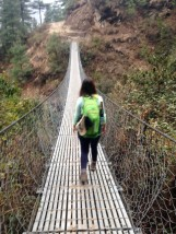 Oh just walking across yet another swing bridge
