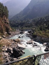 Dudh Kosi River heading towards Namche. 'Dudh' meaning milk, aptly named as you can see.