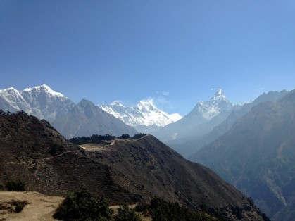 Spotting Everest for the first time....a moment that will stay with me forever.