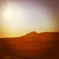 Driving through the Namib desert