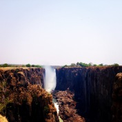 Victoria Falls. I just couldn't help being disappointed when I realised it was the dry season.