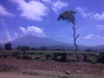 Believe it or not....that is Mount Kilimanjaro!