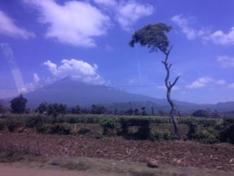 Believe it or not....that is Mount Kilimanjaro!